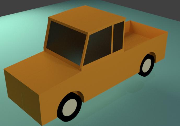 Машинка Blender 3D