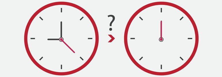 Задача с аналоговыми часами